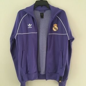 Real Madrid soccer zip up jacket